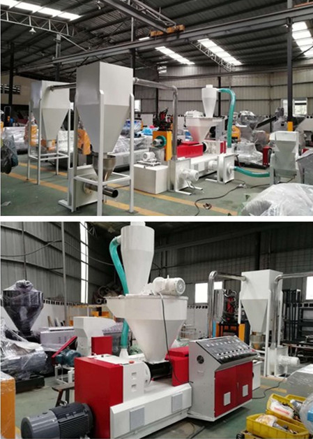 PVC-recycling-pellet-cutting-extruder