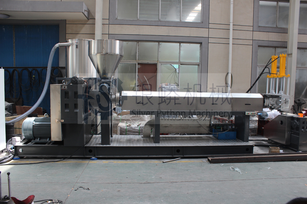 2 stage mother-baby extruder plastic recycling machine